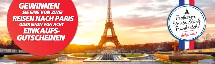 1 von 2 Reisen nach Frankreich gewinnen