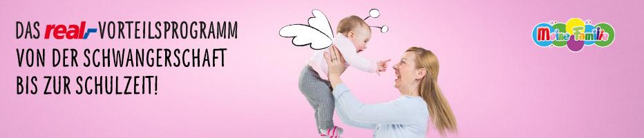 Das real,- Vorteilsprogramm von der Schwangerschaft bis zur Stillzeit!