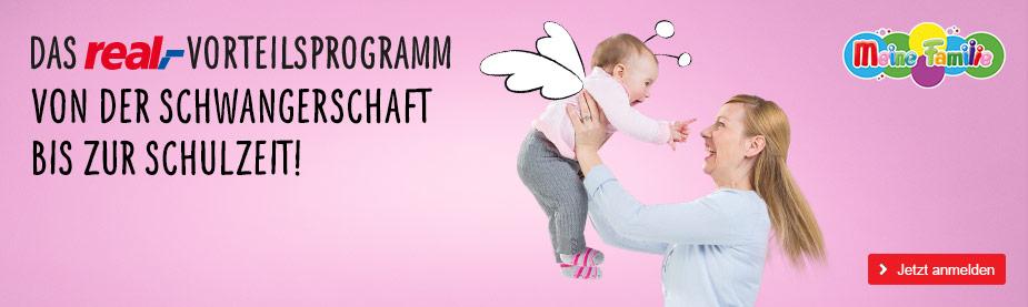 Das real,- Vorteilsprogramm von der Schwangerschaft bis zur Schulzeit!