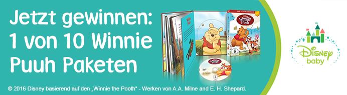 Jetzt mitmachen und gewinnen: 1 von 10 Winnie Puuh Paketen
