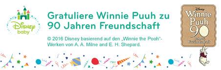 Gratuliere Winnie Puuh zu 90 Jahren Freundschaft