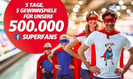 5 Tage, 5 Gewinnspiele für unsere 500000 Superfans