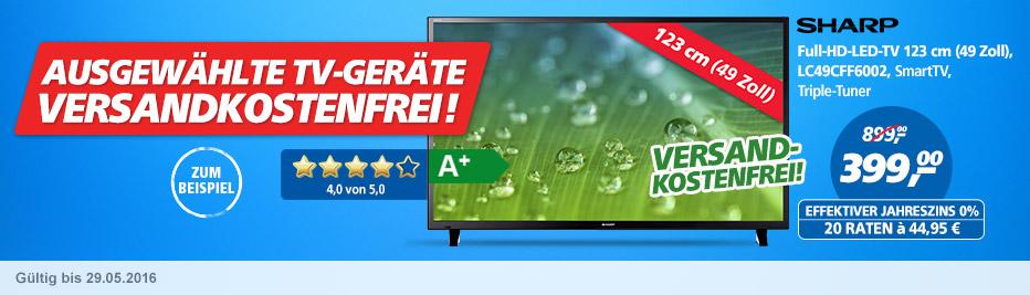 Ausgewählte TV-Geräte versandkostenfrei