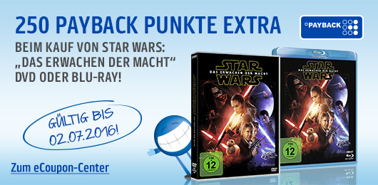 250 Extra Payback Punkte StarWars DVD