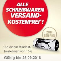 VKF auf Schreibwaren ab 15 Euro Mindestbestellwert