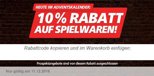 10% Rabatt auf Spielwaren