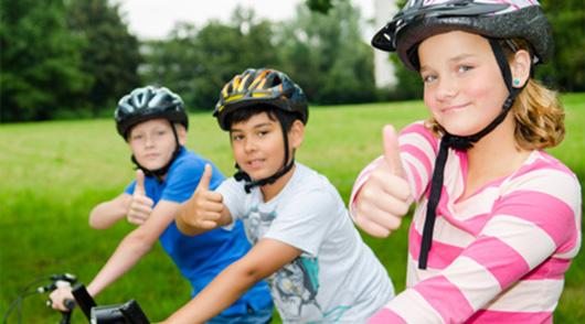 Sicher fahren mit Fahrradhelm