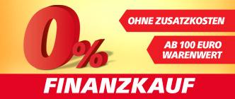 0 % Finanzierungsservice im Onlineshop