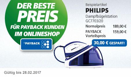 Der beste Preis für PAYBACK Kunden im Onlineshop